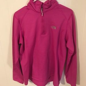 Pink North Face zip-up Fleece